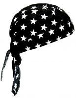 Bandana Cap Sterne schwarz