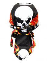 Bandana Cap Totenkopf mit Flammen