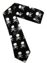 Krawatte skulls weiß
