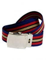 Textil Gürtel blau rot beige