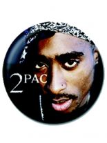 2 Button 2Pac Face