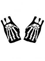 Fingerlose Handschuhe Skelett Hand