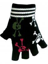 Fingerlose Handschuhe bunte Totenköpfe