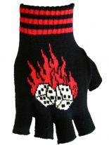 Fingerlose Handschuhe brennende Würfel