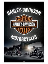 Poster Harley Davidson Cycles