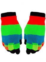 Multi Handschuhe gestreift bunt 2 in1