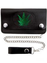 Geldbeutel mit Kette Marijuana