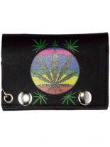 Geldbeutel mit Kette Marijuana klein