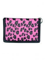 Geldbeutel mit Kette Leopard pink