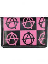 Geldbeutel mit Kette Anarchy schwarz pink