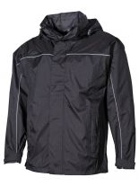 Regen Jacke schwarz leicht