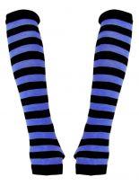 Armstulpen schwarz blau gestreift