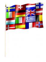 Stockfahne 16 Europa Staaten