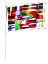 Stockfahne 25 Europa Staaten