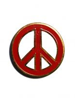 Anstecker Pin Peace rot