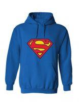 Hoodie Superman blau Logo
