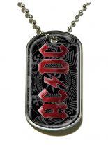 Erkennungsmarke ACDC Black Ice Dog Tag Halskette