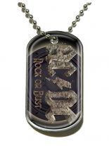 Erkennungsmarke ACDC Rock Or Bust Dog Tag Halskette