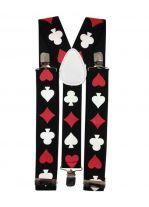 Hosenträger Spielkarten schwarz