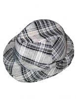 Clubstyle Trilby Hut grau Schotten Look