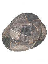 Clubstyle Trilby Hut grau gemustert