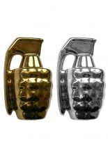 Salz und Pfefferstreuer Set Handgranate gold silber