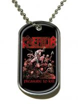 Erkennungsmarke Kreator Pleasure To Kill Dog Tag Halskette