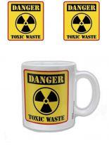 Danger Toxic Waste Kaffeetasse