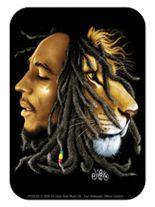 3 Aufkleber Bob Marley Löwe