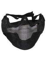 Halbschutz Gesichtsmaske schwarz mit Gitter