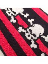 Socken Pirat schwarz rot gestreift medium