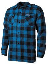Holzfällerhemd blau schwarz kariert