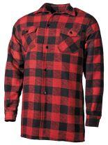 Holzfällerhemd rot schwarz kariert
