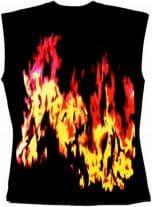 Ärmelloses Shirt Flammen