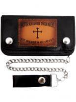 Biker Geldbörse Kreuz mit Kette