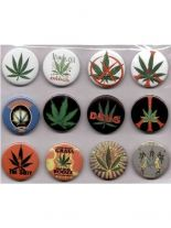 Button Set klein Marijuana