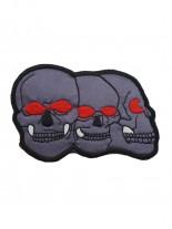 Aufnäher 3 Skulls