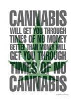 3 Cannabis Postkarten