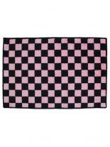 Badematte schwarz pink kariert