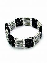 Magnet Armband silber schwarz