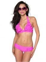 Triangel Bikini pink mit Blüten