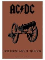 ACDC Poster Fahne for those about the Rock