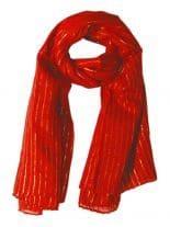 Lurex Tuch rot und gold