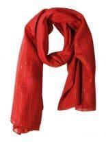 Lurex Tuch rot und multicolor