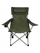 Camping Klappstuhl Rücken- und Armlehne oliv
