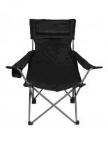 Camping Klappstuhl Rücken- und Armlehne schwarz