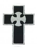 Aufnäher Kreuz mit Symbol