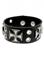 Kunstleder Armband Eisernes Kreuz Lochnieten