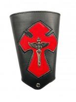 Kunstleder Armband Flügelschwert