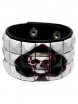 Kunstleder Armband Pick skull